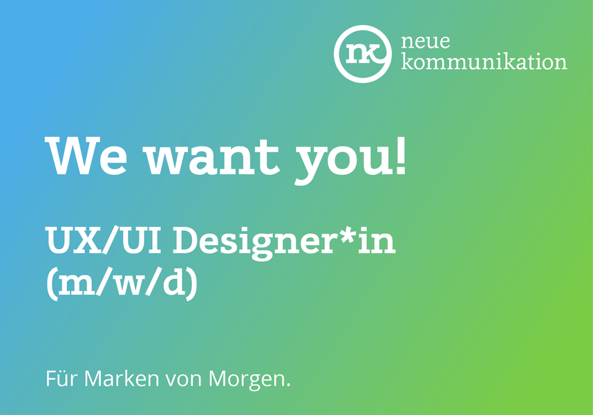 Screendesigner*in gesucht